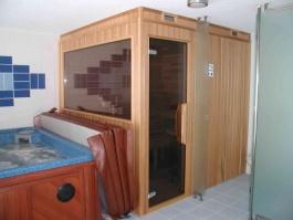 Sauna z cedrového dřeva